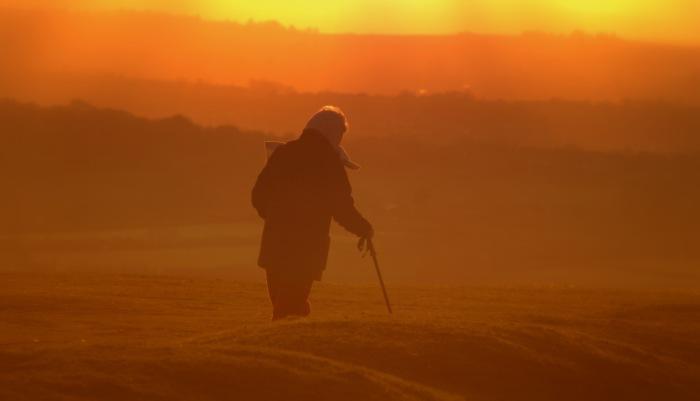 Walking Towards A Sunset