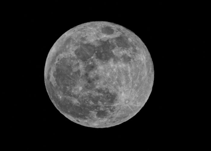 Alternative (Blue) Moon in Black and White